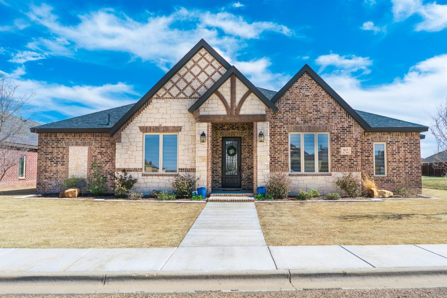 Welcome to this Beautiful Dan Wilson Home in Preston Manor! Built in 2017, This Amazing 4 Bedroom, 3 Bath, 2+ Car Garage Home Incorporates Brick, Stone and Stucco Exterior, Has an Open Floor Plan, Vaulted Ceilings with Beams, Large Granite Island in Kitchen with lots of Space and Custom Cabinets.  Grand Master Suite with Vaulted Ceiling, Walk-In Closet with Tons of Built-Ins, Great tub with Seperate Shower.  Exceptional Laundry Room with Storage. Fully Landscaped, 2 X 6 Exterior Walls Almost Doubles Energy Efficiency of This Home and So Much More.  Located in Preston Manor with Parks, Pool, Tennis Courts and Frenship Schools!   Come See This Gem Today!