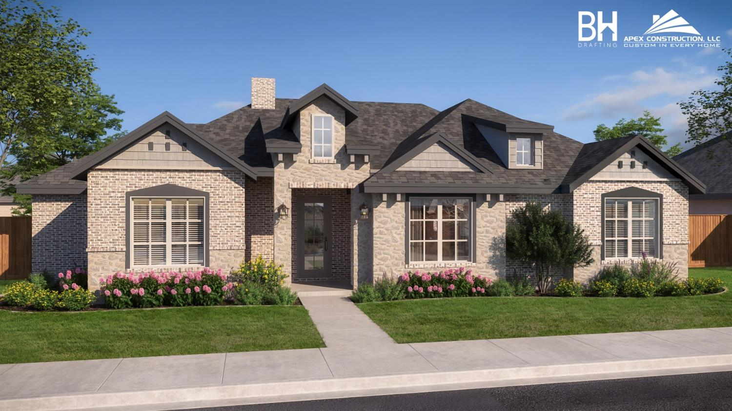 Another stunning home Built by Apex Construction. This home features 4 spacious bedrooms, 3 bathrooms and an attached 2 car garage. Vaulted ceiling in the master bedroom. Dining area located off kitchen. Open concept home with brick and stone on the front elevation. You won't want to miss  this beauty!