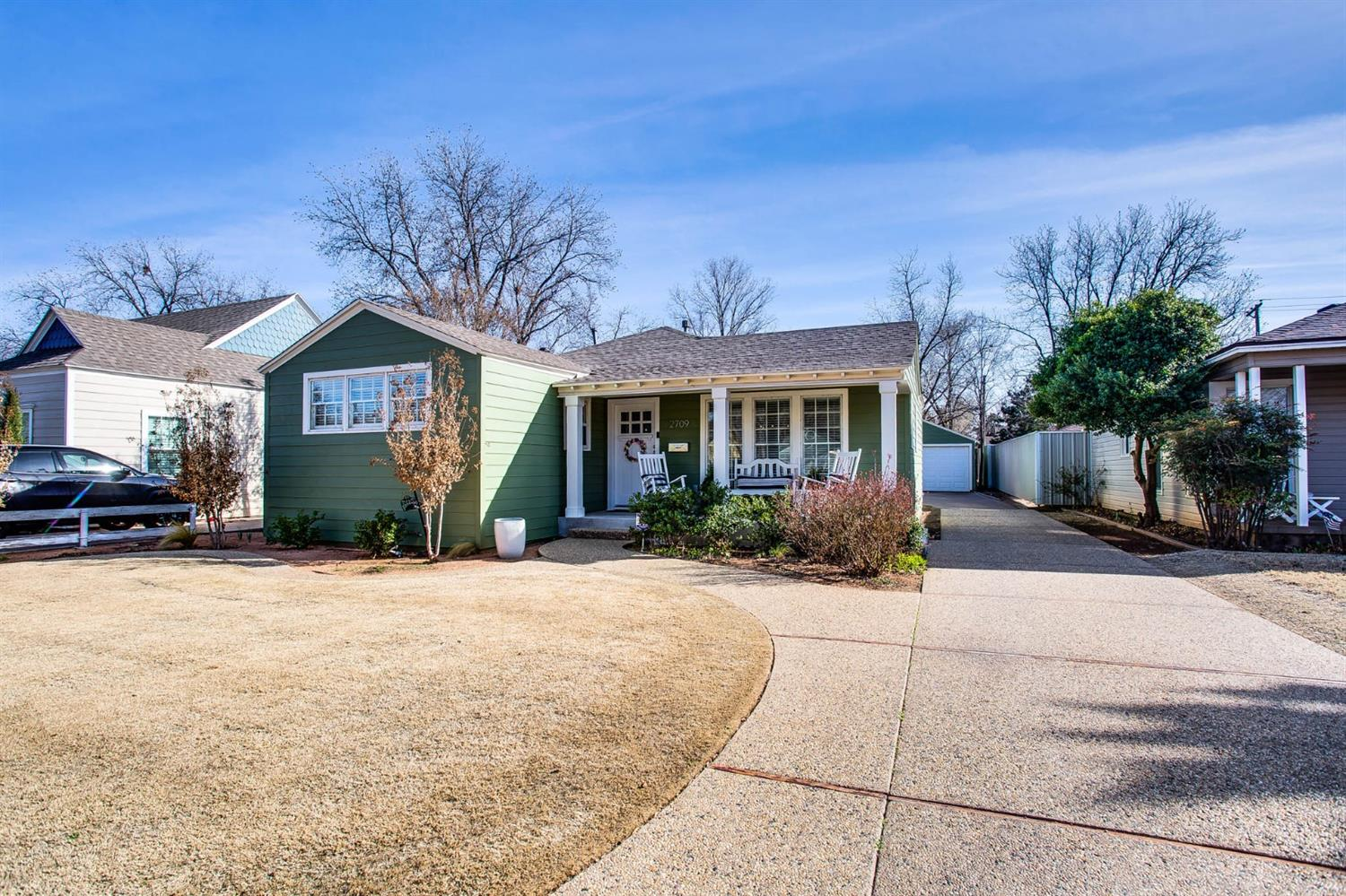 Fully remodeled dream home just a few blocks from Texas Tech in popular Tech Terrace neighborhood! Magnolia style throughout! This house actually makes YOU money! Owners added a guest suite behind the garage that is a popular rental on Airbnb making an average of $1,200/mo! It's called the Green Getaway & you can find it using this link: http://bit.ly/greengetaway. 3/2 with office in front house & 1/1 in guest house! Master bathroom recently remodeled with double vanities, quartz countertops, subway tile throughout, a custom vanity & shelving! Hall bathroom has also been recently remodeled with exposed shiplap, new floors, vanity, & reglazed bathtub! Original hardwoods throughout! This home has many smart features -- ring security system, doorbell camera, flood light cameras above the garage, & a new Nest thermostat! Detached 2 car garage - rare in the neighborhood! Hot tub in backyard is only 4 years old! Manicured front/back yard! One of the best houses in the area! Won't last long!