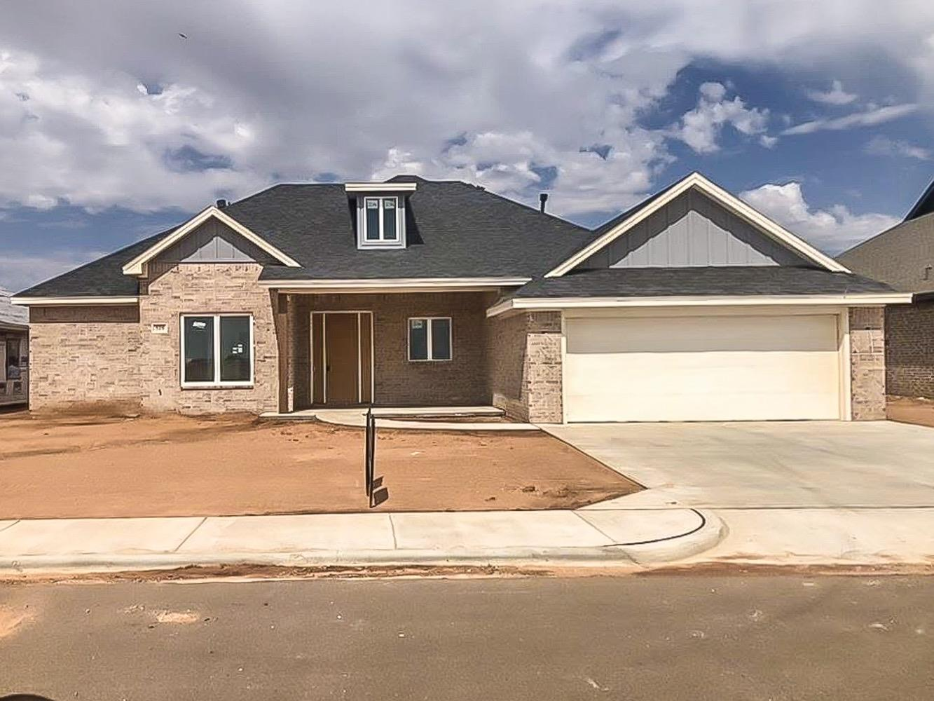 This beautiful new construction home in Shallowater's Diamondhead Estates is almost ready for its new owner! This farmhouse welcomes you with an oversized front porch. Inside you will find soaring 12' ceilings and luxury vinyl plank floors, energy efficient gas fireplace with shiplap, tile, granite hearth, and built-ins. The stunning kitchen features a 10' island, custom wood vent hood, gas range, beautiful granite, and a walk-through pantry. The isolated master bedroom and bathroom boasts a dreamy, free-standing tub, double vanities, and his-and-hers closets. Two additional bedrooms share a jack-and-jill bathroom, and the 4th bedroom with attached bathroom could be a study or flex space. The covered back porch and outdoor kitchen is the perfect place to spend summer nights with family and friends. Schedule your private showing to see this amazing home today...it won't be here long!