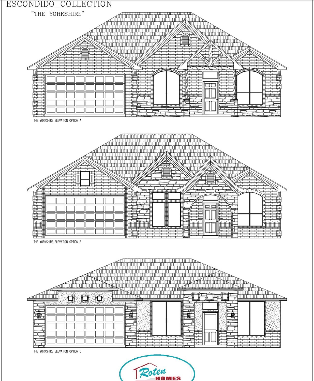 Roten Home new construction 4 bedroom (1 guest suit), 2 bathroom, and 2-car garage home in Day Estates neighborhood. Built for comfort and style, this beautiful brick and stone home has an open concept with 10' ceilings throughout entire house, and large entertaining kitchen island, walk in pantry and double oven. Located in Frienship ISD, making it a great location! Special features include: electric fireplace, granite countertops throughout, mosaic tile kitchen backsplash, apron front kitchen sink, under cabinet kitchen lights, his & her walk-in closet in master bedroom, a jet tub in master bath, isolated guest suit, and vinyl plank flooring everywhere except bedrooms & closets.