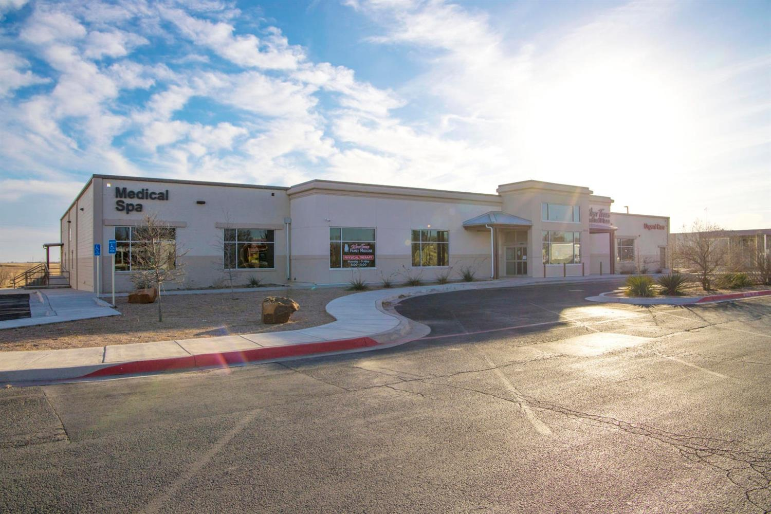 Designed as a state-of-the-art medical facility 2 years ago, this 19,779 sq. ft. building is now available in Plainview! Located on one of Plainview's highest traffic areas, this location on 5th Street is ideal and highly visible. Boasting over 70 separate rooms, this property will easily accommodate several medical professionals. The trauma area, physical therapy department and Medical Spa, with its own private entry, are only a few areas of this building. Highlights also include very nice and open waiting areas, wide hallways, high ceilings, motion detected LED lighting throughout and unlimited storage. The beautiful exterior, accentuated with low maintenance landscaping, is also surrounded with 89 parking spaces for staff and visitors.