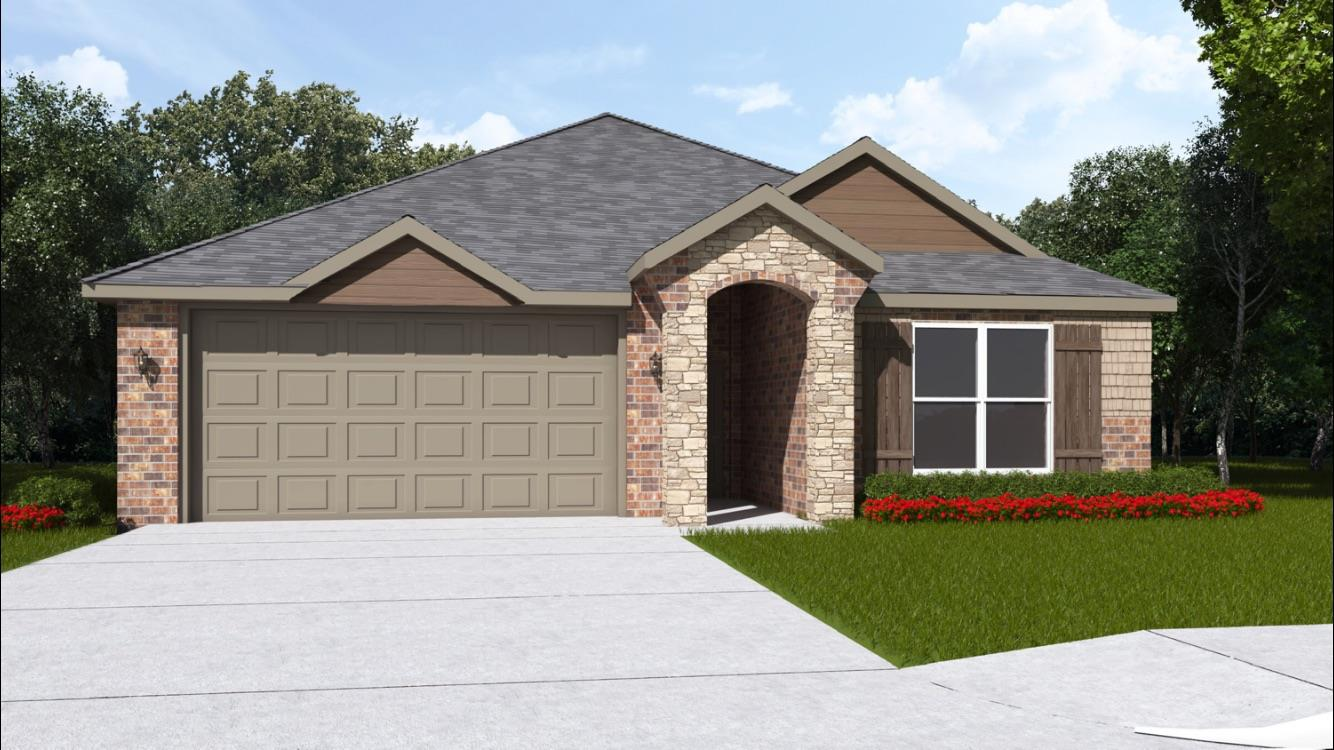 Brand new construction in Cambridge Way. 3/2/2 open floor plan home with nice living space and beautiful upgrades. Great kitchen with granite counter tops, stainless steel appliances, freestanding gas range and 2 faux wood blinds included.  Good neighborhood, sits in a very convenient  area, close to the freeway, making everything in the area easy to get to quickly. Hampton plan