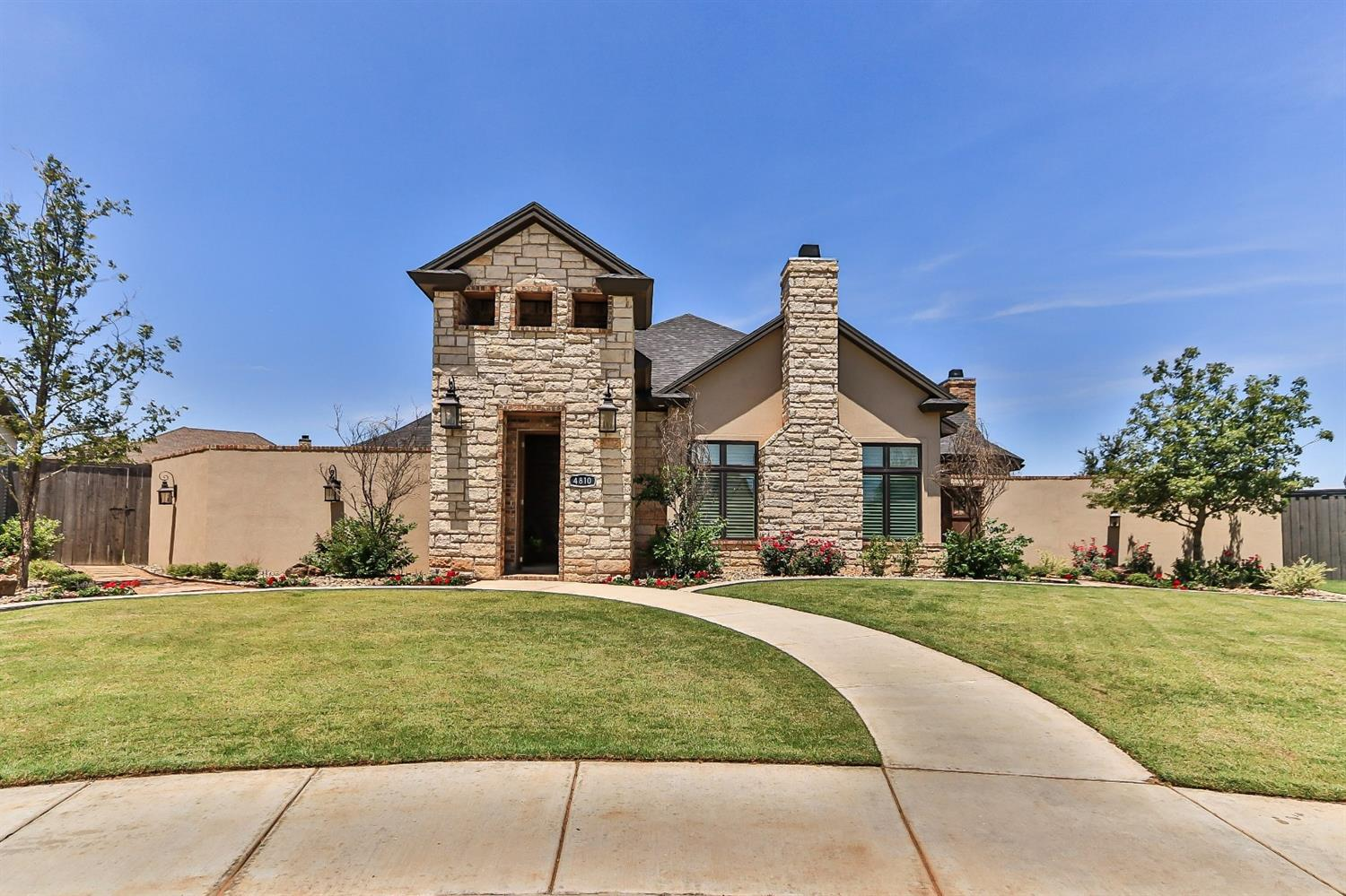 Stunning 2017 Parade Home in The Estates at Vintage! The 10+ curb appeal is just the beginning of the many incredible features this 4/3/3 with Bonus Room offers.Character abounds as you enter the private courtyard w/ fountain and sitting area.The soaring ceilings with beautiful beams will greet you as you enter the home. The spacious kitchen boasts double ovens, buffet serving area, large island, stainless farmhouse sink, and GE Profile Gas cooktop. The cozy hearth room just off the kitchen area is the perfect spot for your morning coffee. Enjoy the open concept living/dining/kitchen which make this home a great choice for entertaining. The enclosed patio with cooking area, sitting area, and fireplace with gas logs is a great option for buyers who love a game room, a second living space or man cave! The master bedroom is a retreat with a private patio and spa like master bath.Your options are endless for outdoor living with 3 covered patios and two backyard spaces!Don't miss this one!