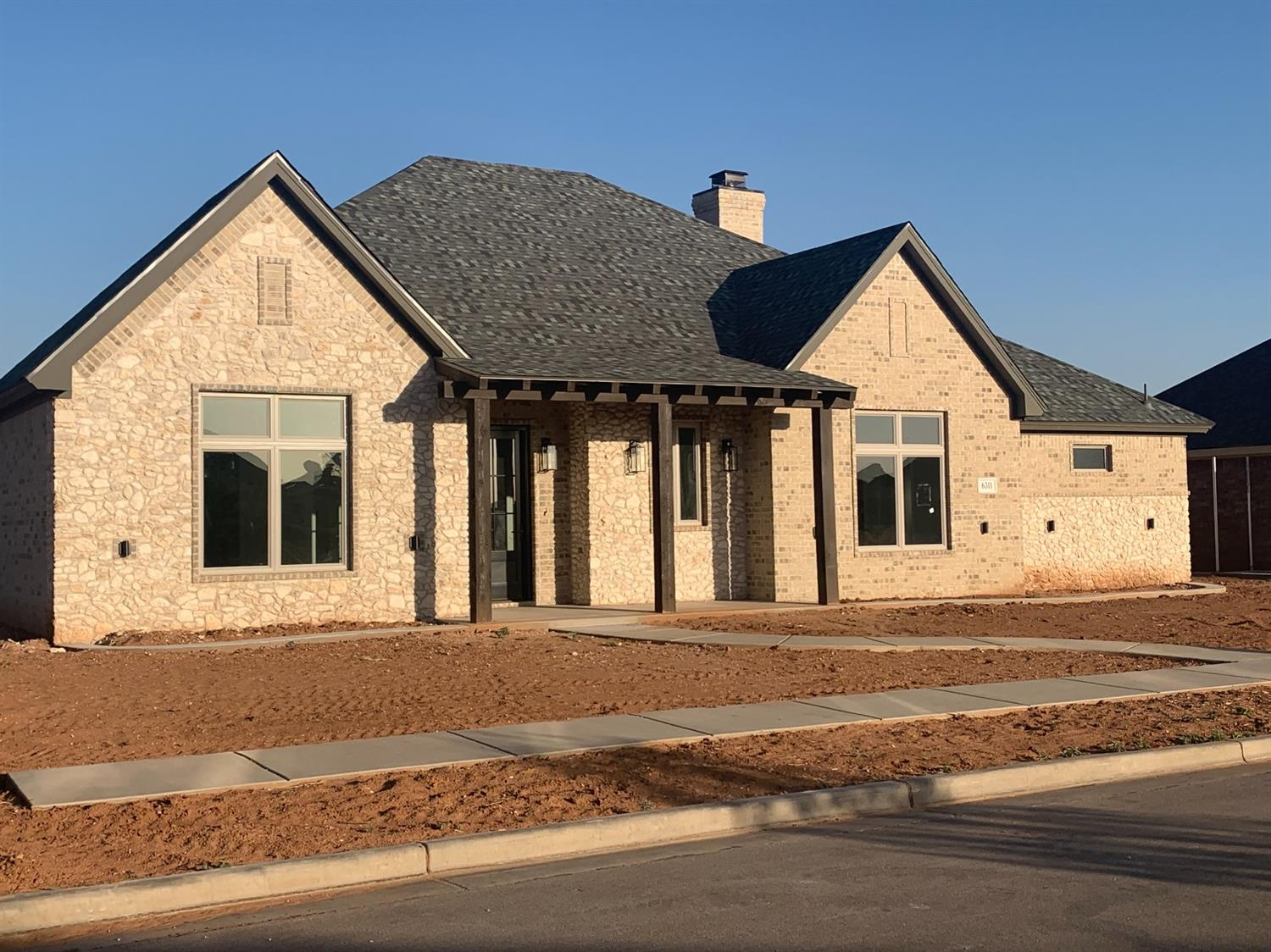 Undeniably unique home built in 2020 by Brick + Boulder. Features open concept living and kitchen. 3 bed, 2.5 bath, separate office and 2 car garage. Luxury finishes include quartz kitchen countertops, Frigidaire professional  stainless steel appliances; 2 fridges 2 gas ranges, built in microwave, and dishwasher. Details to note include soapstone fireplace surround, luxury vinyl plank flooring, designer lighting and custom designed cabinetry. Located in the highly desirable 'The Trails' subdivision, which includes access to multiple private parks and play grounds. Frenship school district.