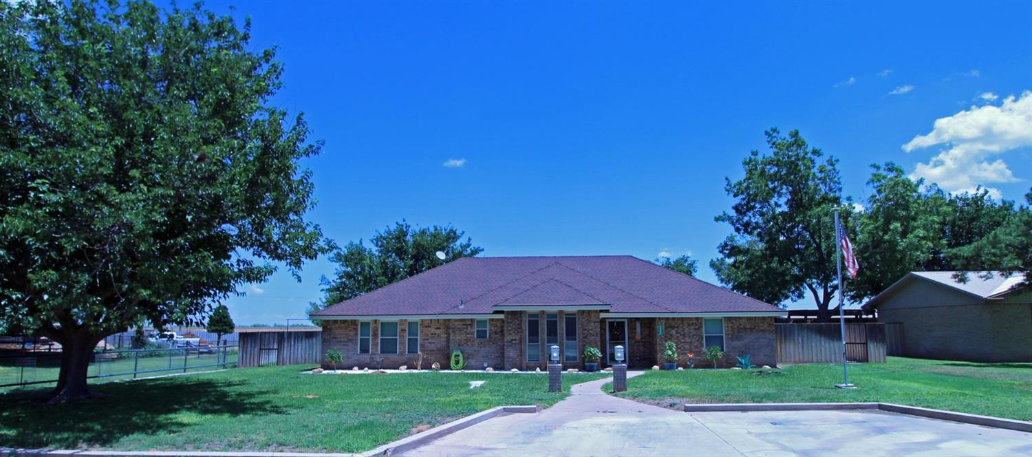 This updated 4 bed, 2 bath, 2500 sq ft home in Andrews, TX sits on a 1/2 acre lot with 2 detached garage/storage buildings. The newest garage, added in 2020, w/ 768 sq ft of space and two roll up entry doors. The second detached building w/ well pump, reverse osmosis, new plumbing, + additional parking area. The above ground pool is perfect for cooling off during the hot summer months and is solar heated for the winter season. The isolated master floor plan includes a master suite, 2 bedrooms and a fourth bedroom/living area with walk-in closets. The newly updated kitchen is ready for your culinary adventures. It features undermount slides in all cabinets, custom racks for spices, dishes, pots, pans and trash. The large pantry features sliding shelves for easy access to items in the back. Imagine your social functions as people gather around at the seating areas with custom quartz countertops and modern lighting. Schedule your showing