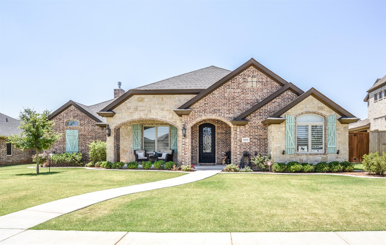 This beautiful Kim Craig home is definitely a house you want to see located in The Enclave at Kelsey Park. It is a 4/3/3 open concept home that has a large inviting living room with a stone fireplace as well as a common space for the kids to hang out. The isolated master suite has views of the back yard with a beautiful master bath. The covered patio faces the south with Beat the Heat shades and plenty of space to entertain. This house has beautiful built-ins and storage through out. There are plantation shutters in every room. Beautiful home in a great location on the south side of Lubbock.