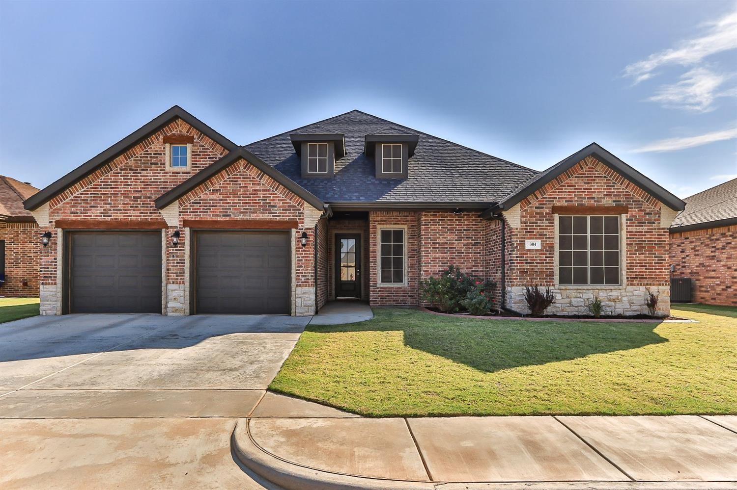 Spectacular home in Frenship ISD! 4 bedrooms plus a office! Only 3 years old. Stunning dream kitchen with so much light! Kitchen features beautiful granite & backsplash, lots of work space, island with breakfast bar, large pantry, and stainless appliances including double ovens & gas cooktop. Living room is spacious with a shiplap fireplace wall & eye-catching vaulted ceiling. A lovely office is located through the french doors off the living room. The isolated master is roomy and features beautiful ceiling details. The master bathroom is luxurious with a free-standing soaker tub, barrel ceiling, double vanities with granite, separate shower and large walk-in closet. The other 3 bedrooms are clustered around a built-in desk area. The back yard features a 12 x 20 Tuff Shed that is pre-wired. Could make a great workshop! The covered patio is the perfect shady spot to relax. Loaded with unique & beautiful features, you will quickly fall in love with this home!