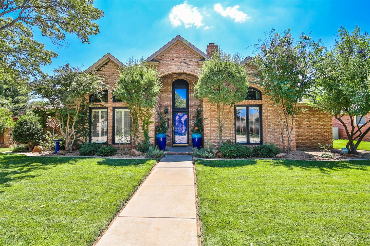 This one is all WOW factor! 3/2.5/2 in Frenship ISD, this home has ALL of the bells and whistles. A vogue-worthy entryway opens up to soaring ceilings in the open living and dining area. The kitchen is stunning with beautiful granite and stainless appliances. The island and range hood could double as artwork, and the bonus breakfast dining comes complete with a elegant courtyard view. The master suite feels like a European getaway! The master bedroom features soft grasscloth accent walls, recessed ceilings and natural light. The master bath features a spa tub and separate shower, ornate counters and light fixtures, and huge walk-in closet. The two spare bedrooms boast room to grow. The front bedroom dons vaulted ceilings and a one-of-a-kind treehouse-like loft! The bonus room/second living room at the back of the home steps out into a backyard oasis, featuring a privacy fence, volleyball-style pool and stunning pergola. This one is a showstopper!