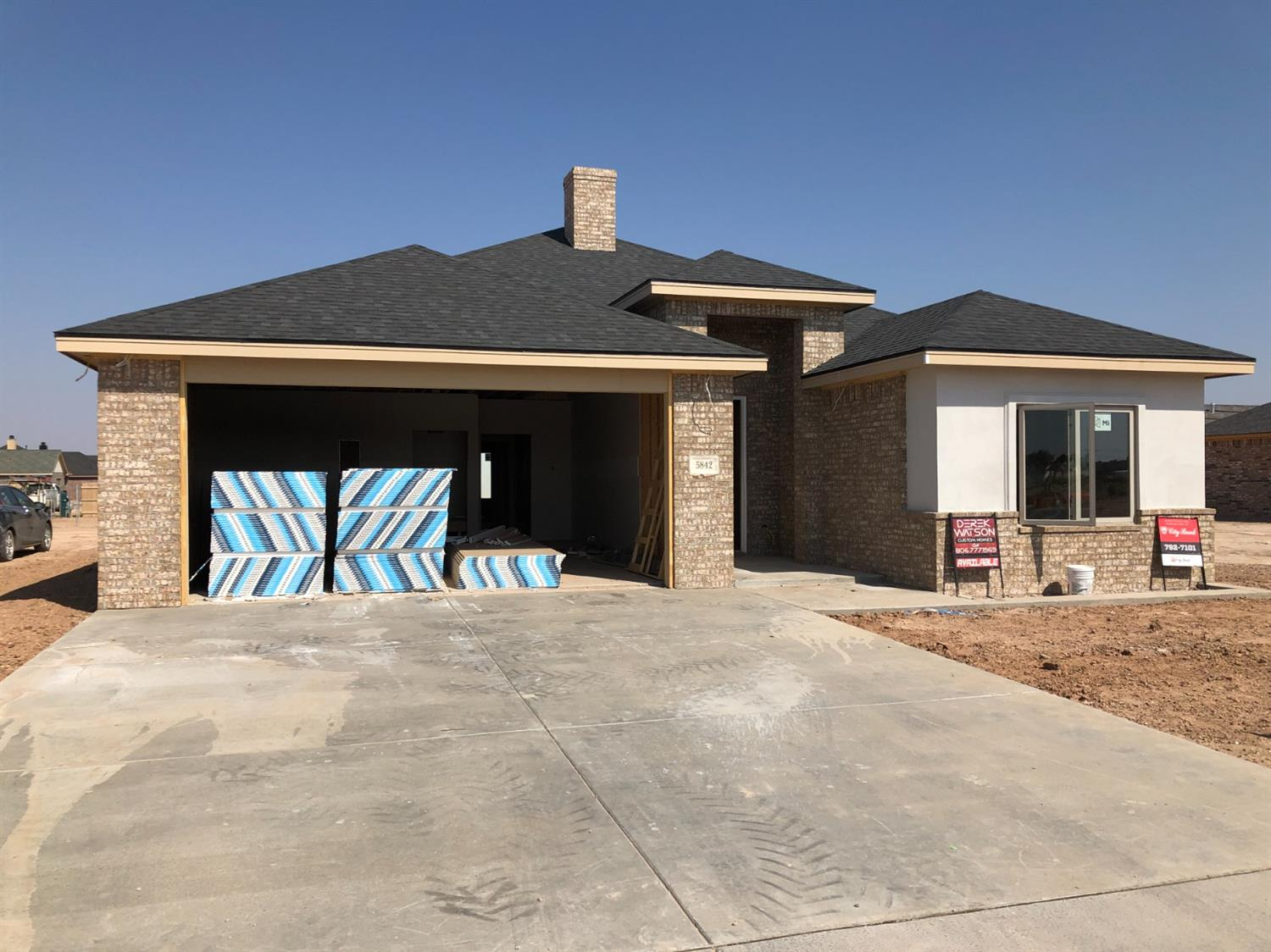 Fabulous new construction home in Frenship ISD built by Derek Watson Custom Homes!  This custom built 3 bedroom, 3 bathroom home will be ready in January 2021. The beautiful kitchen has exquisite custom built cabinetry, stainless steel appliances, a large island with breakfast bar, granite countertops and a wine bar!  This home has an open concept floor plan with the kitchen opening up to a large living area with a beautiful fireplace. Vinyl plank flooring covers the living, dining, kitchen and laundry rooms with carpet in the bedrooms. The exterior has a fenced-in backyard, covered patio area, automatic sprinklers around the property and much more!  Call us TODAY for more information on this NEW CONSTRUCTION home!!
