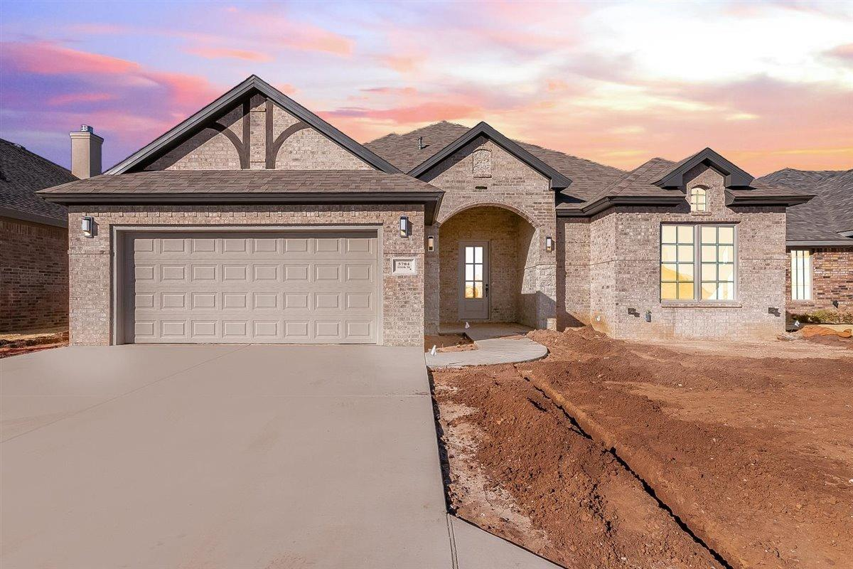 This beautiful new construction home by Craig Ray Custom Homes is sure to have plenty of space for your family. Nestled in the newest subdivision, Stonewood Estates, just inside the Lubbock Cooper School District. This home features thoughtfully designed floor plan that utilizes the space extremely well. An open concept kitchen with stainless steel appliances features granite counters and expertly designed tile finishes. Extra closet spaces throughout the home give you many storage opportunities.  The living area features a remote, gas fireplace.  The master bath provides a relaxing atmosphere with a large soaker tub, double vanities and a large closet. Outside, you will find a spacious back yard. Home will be finished out with sod/fence and automatic sprinkler system in front and back. This home is your happy place!