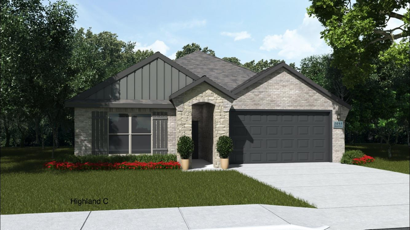 Brand new construction in Bushland Springs, Highland plan, 3/2/2 open floor plan home, with nice living space and beautiful upgrades. Granite counter tops, stainless steel appliances, freestanding gas range, and island perfect for food prep or entertaining. Home includes window coverings, fence, sod and sprinkler system. Sod, Sprinkler, Fence & 2 Faux blinds included