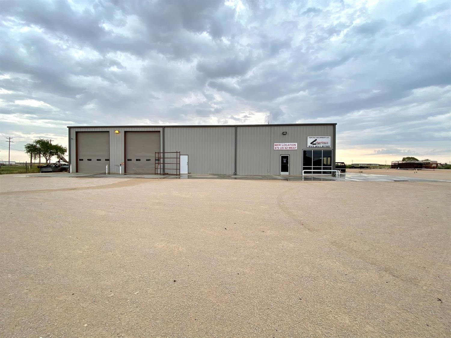 Don't miss out on this AMAZING opportunity to own acreage on MAIN STREET in Seminole, Tx. HWY 62 is a highly traveled street that could drive a lot of traffic to your business. This property includes over 2 acres of land with 2 large steel buildings totally 8,000 square feet. The larger building to the north is 5,000 square feet & the smaller one to the south is 3,000. Both have office/retail space long with workshop areas. Large garage doors on both buildings and tons of potential for any business. You just CANNOT beat this main street frontage.