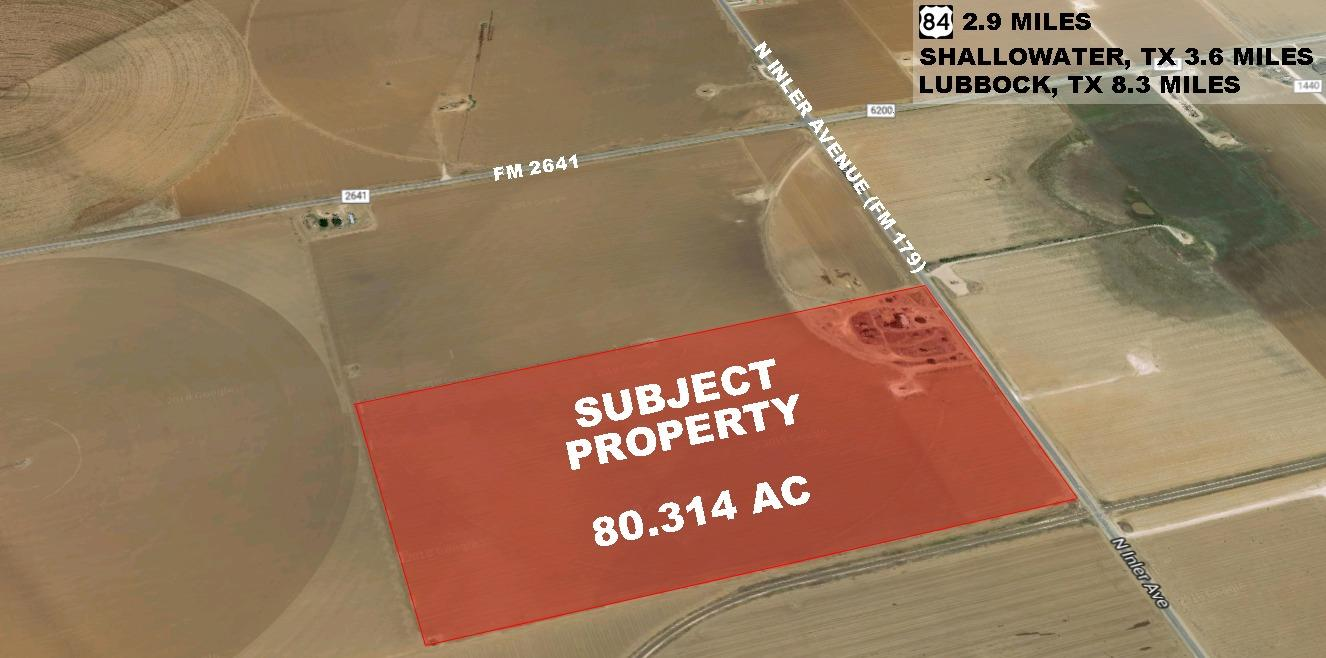 80.314 Acres of development land on FM 179. An excellent location with highway frontage.
