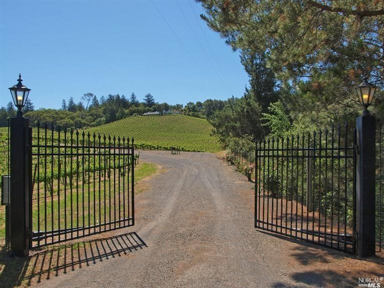 Gated Vineyard Estate. offering privacy, views; pool, bocce ball court, outdoor fireplace etc.  Unique single story with separate guest rooms +1300 SF office/hobby room over 3 car garage. 10 minutes to Healdsburg Plaza. Owner will consider month to month or longer lease.