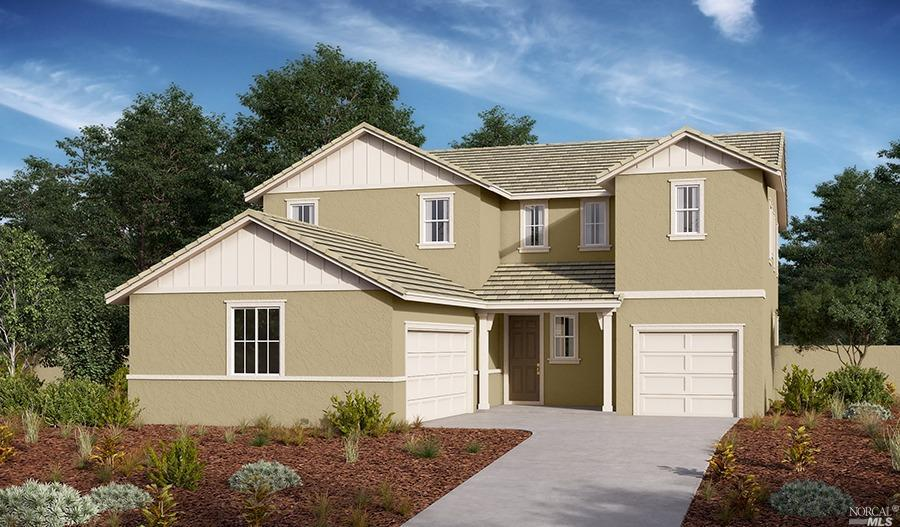 This gorgeous 2 story home is scheduled to be finished for a April /May move in.Two garages flank th