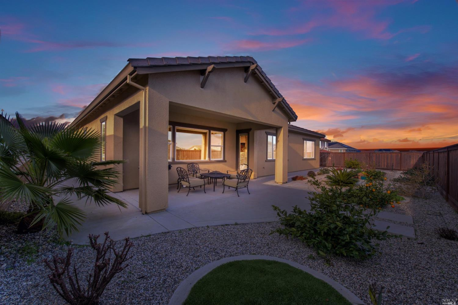 Incredible Opportunity to Own This Stunning Single Story Home In The Highly Desirable Cheyenne At Browns Valley Community! This 4 Bedroom, 2 1/2 Bathroom 3 Car Tandem Garage Home Showcases True Pride Of Ownership And Boasts Many Upgrades Throughout Including Oversized Island With Farmhouse Style Sink, Granite And Quartz Countertops With Custom Arabesque Tile Backsplash, Extended Cabinets In The Kitchen Nook, High End Built-In Stainless Steel Appliances With Hood, Pendant And LED Lighting And Butler's Pantry. Spacious And Open Concept Great Room With Gas Fireplace, Beautiful Wood-Tile Flooring In Living Spaces, Wood Flooring In The Master Bedroom And Closet And Upgraded Carpet In Remaining Bedrooms. Additional Upgrades Include Custom Window