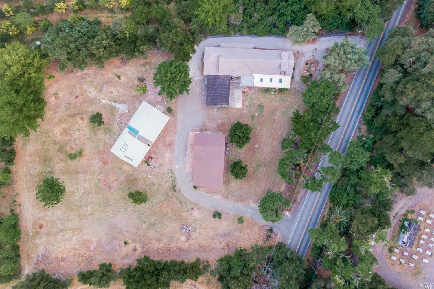 1.47 Acres,in Old Town Cordelia. This Property has a updated/remodeled 1929 4 bedroom+Loft+Sun-room home.Along with a Barn+loft,Pool House and Flat usable land. Nearest neighbor 600 feet away,two sides only.The classic ranch/farm style home is made of Redwood,has been completely updated,with plumbing,electrical,paint,Hawaii Curly laminate floors,updated Kitchen with bay windows and Granite counters,newer water heater, Central A/c refurbished and has central Heat.Big Red Barn built in the 1930's made of Redwood on slab has electrical outlets all over,has a Large upstairs loft, newer roof,exterior painted last year and 3 large entrances.Comes with 2 John Deere tractors Big and little 1976/950 both in working condition.Fabulous Swimming Pool i