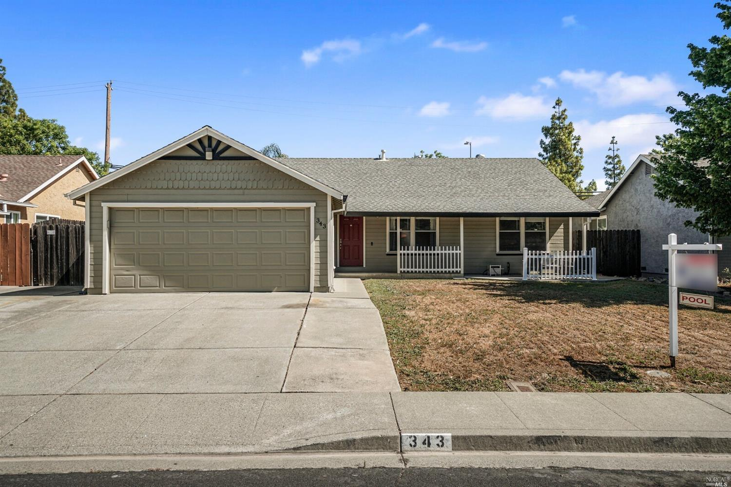 Honey, Stop the car!  3/2 with Master retreat, Prepare to be amazed by the stunning custom Kitchen with quartz countertops! Beautiful island that opens into the great room.  Laminate flooring throughout the home. Master bedroom has a retreat area with walk in closet.  Extra parking on the side and more room in the front for future RV space. Did I mention the pool? In ground pool and patio in the back make this a perfect choice for your family this summer. Close to schools, shopping, and parks. Hurry this one will NOT last long.