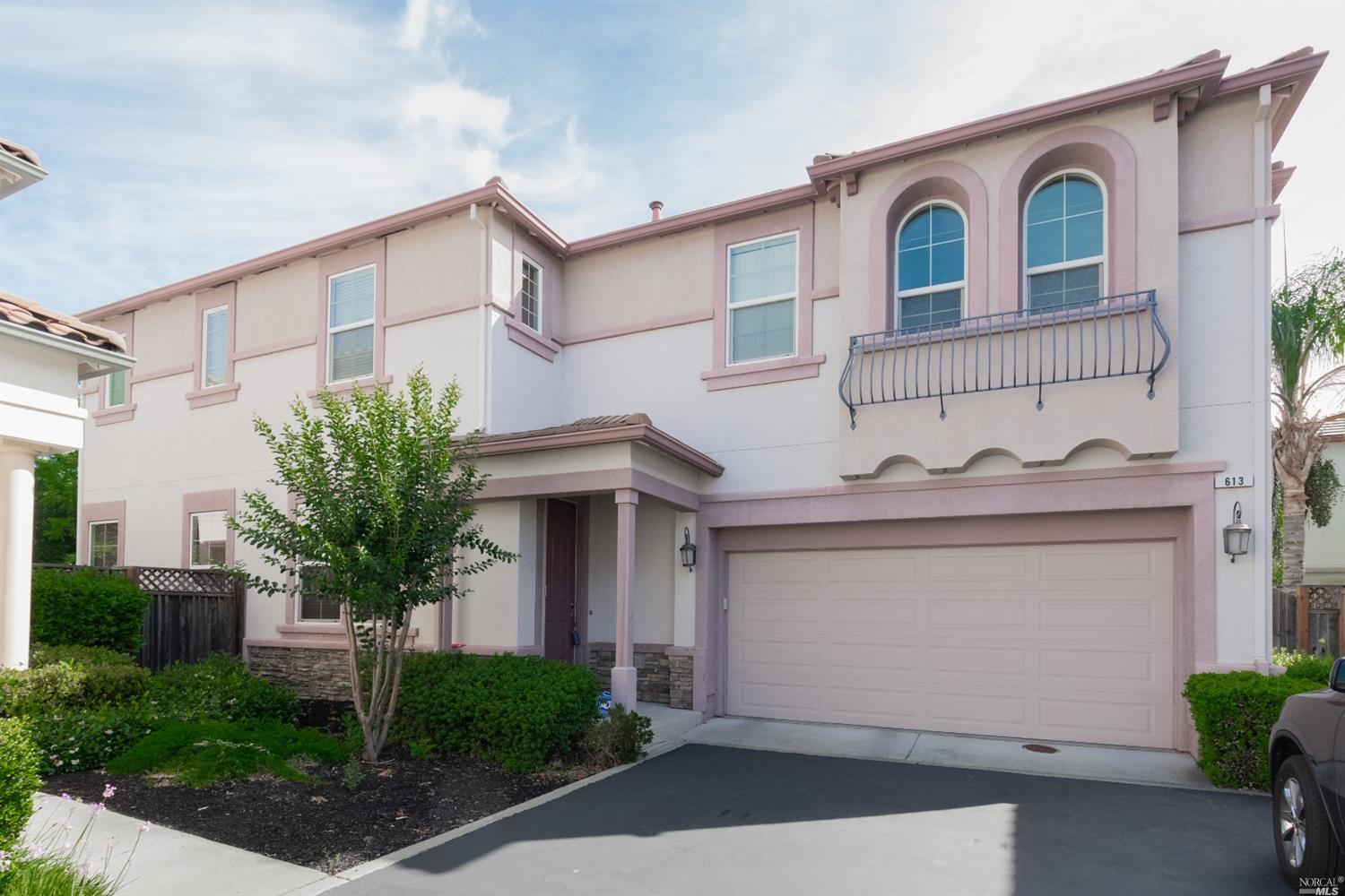 WOW! This Portofino beauty is in move-in condition just waiting for you! Backs to open space.  Gorgeous gourmet kitchen features Travertine tile counters, loads of cabinets & recessed lighting. 20 tile flooring. Huge master bedroom suite w/views! Luxuriate in the master bath soaking tub and enjoy the spacious walk-in closet. 3 more generous sized bedrooms, a hall bath, large linen closet & 2nd story laundry room (Whirlpool washing machine incl) complete the upstairs area. New hot water heater. The sweet backyard area has a beautiful stamped concrete patio. Enjoy the Private park for Portofino Homeowners only. This subdivision is well taken care of & is close to Pena Adobe Park, shopping & downtown Vacaville entertainment. Come see all that