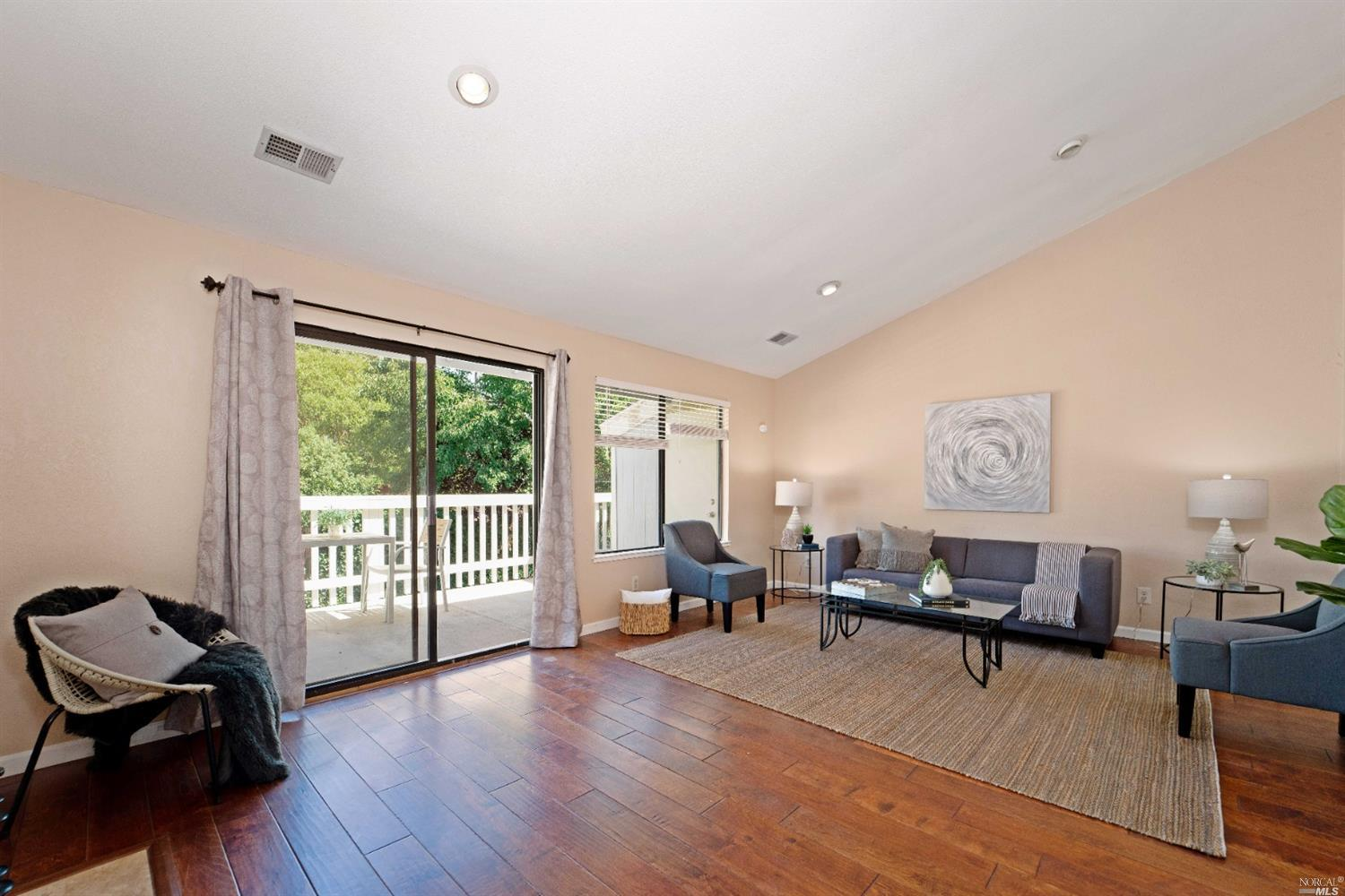 Super low HOA! Only $175/mo. This recently updated 2 bedroom, 1  bath condo features an open kitchen