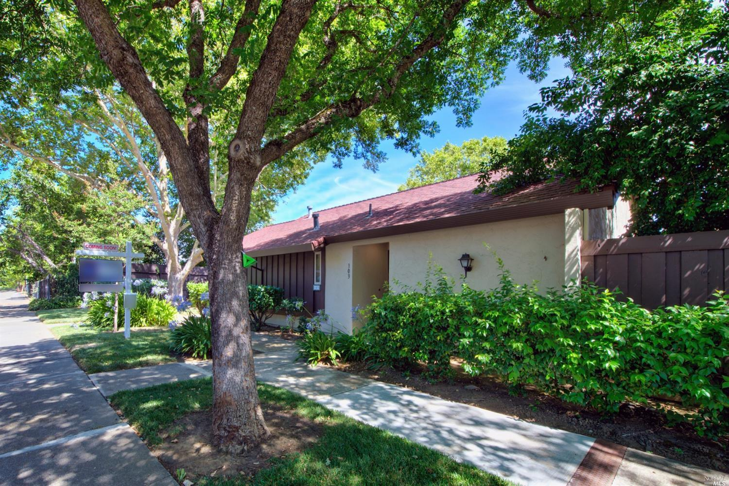 Updated single-level Vacaville condo with a 2-car garage located on the north side of Vacaville with close proximity to downtown and I-80. HOA includes a large community swimming pool, water, garbage, front landscaping, home exterior and roof. Interior has been beautifully updated with remodeled bathrooms, paint, carpet, laminate flooring, ceiling fans and recessed lighting. Kitchen offers granite countertops, stainless-steel appliances, updated cabinets and a dining area. Master has a sliding glass door to the private covered patio area, ideal for entertaining.