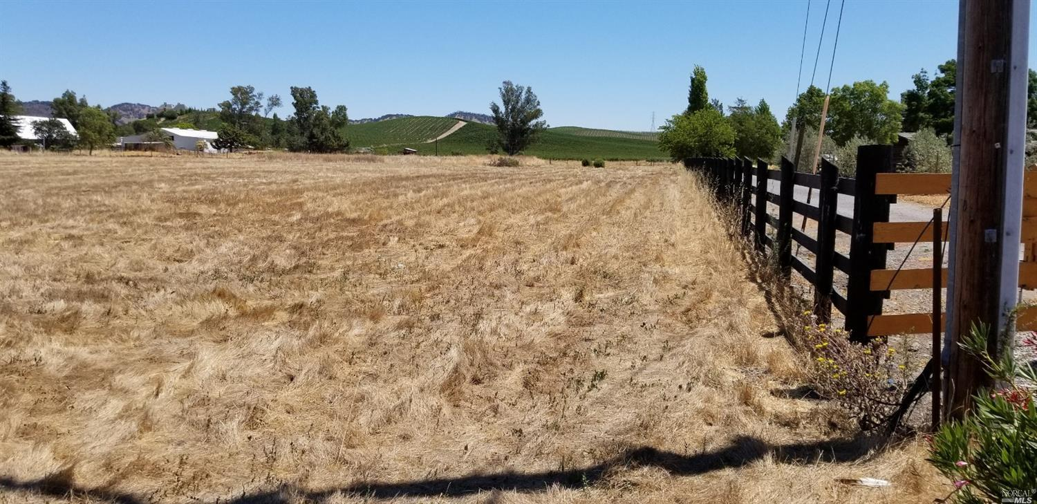 Gorgeous mostly very level 5+ acre parcel minutes from the Sonoma Square..  There is a 5 BR mound septic installed with new pump.  Mountain views that cannot be obstructed by future development.  Vineyard, fruit trees, all possible.