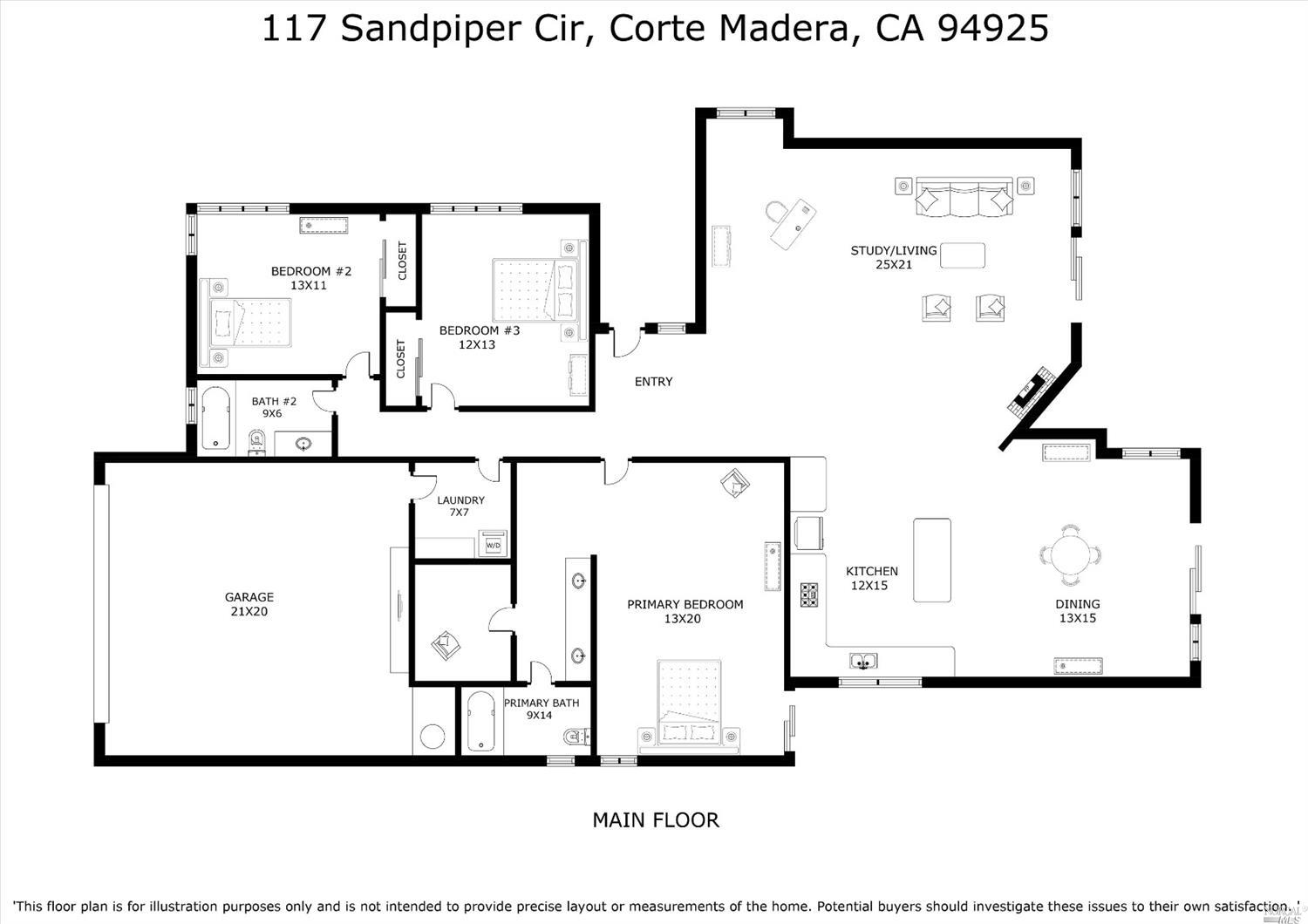 Listing 22025339 : 117  Sandpiper Circle, Corte Madera, CA, 94925  (photo 50)