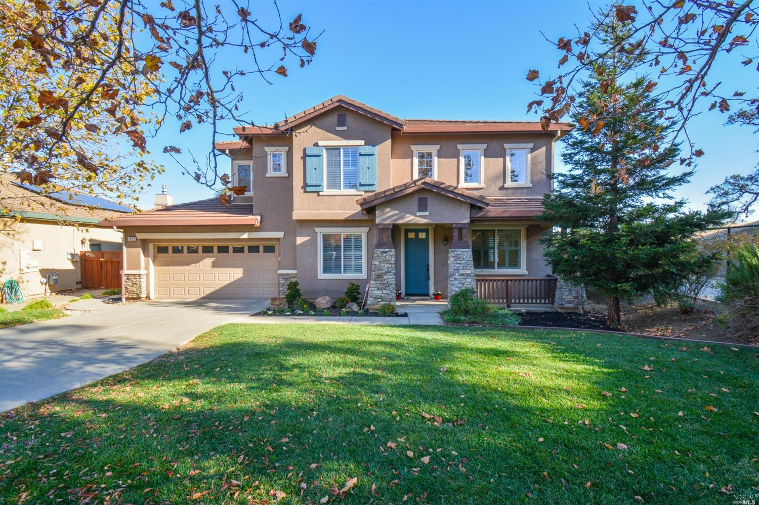 This stunning showcase home is located in a quiet cul-de-sac with beautiful views of majestic oak tr