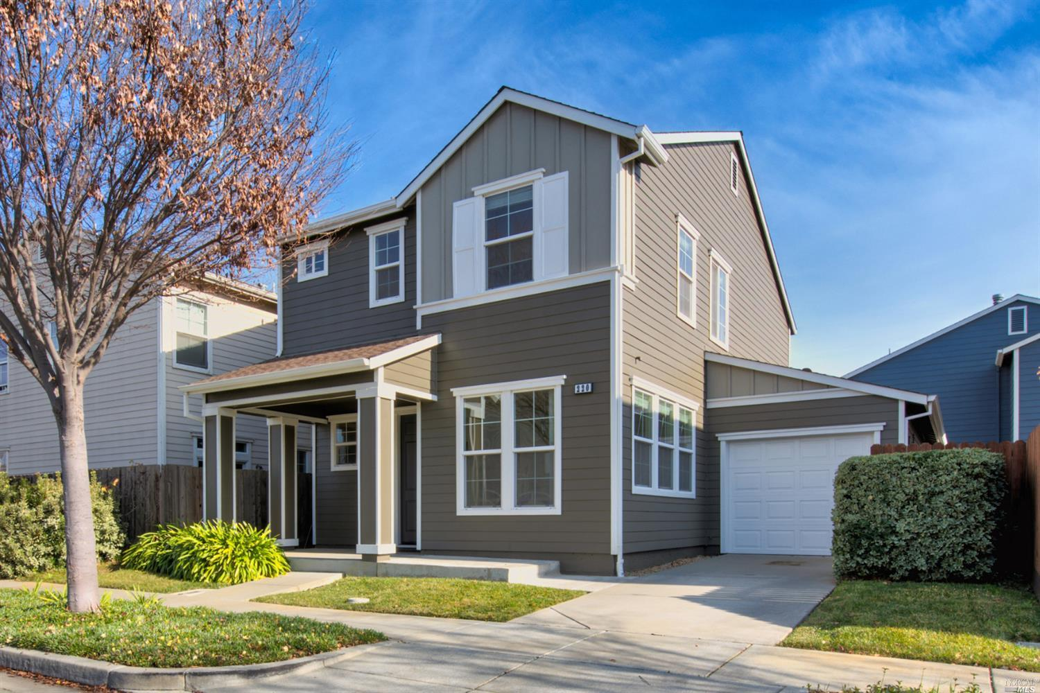 Gorgeous Suisun City home near the Marina!!This home bursts with curb-appeal and offers an open floor plan, a large chef's kitchen with plenty of cabinet space,2 Story home with 3 Bedrooms and 2.5 bathrooms in a desirable Area. Low maintenance back yard and a 2 car tandem garage!! Incredible Opportunity to own this Amazing home in a prime location close to shopping, HWY-12, I-80, and Travis AFB. Don't miss out on this great opportunity! Truly a must see!