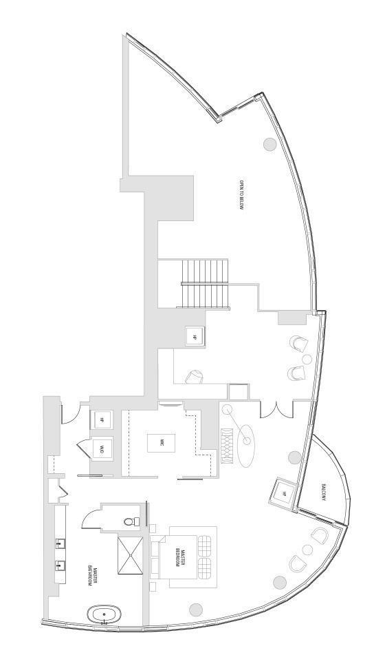 Second Level - This is a conceptual drawing designed by Arquitectonica to demonstrate the space.