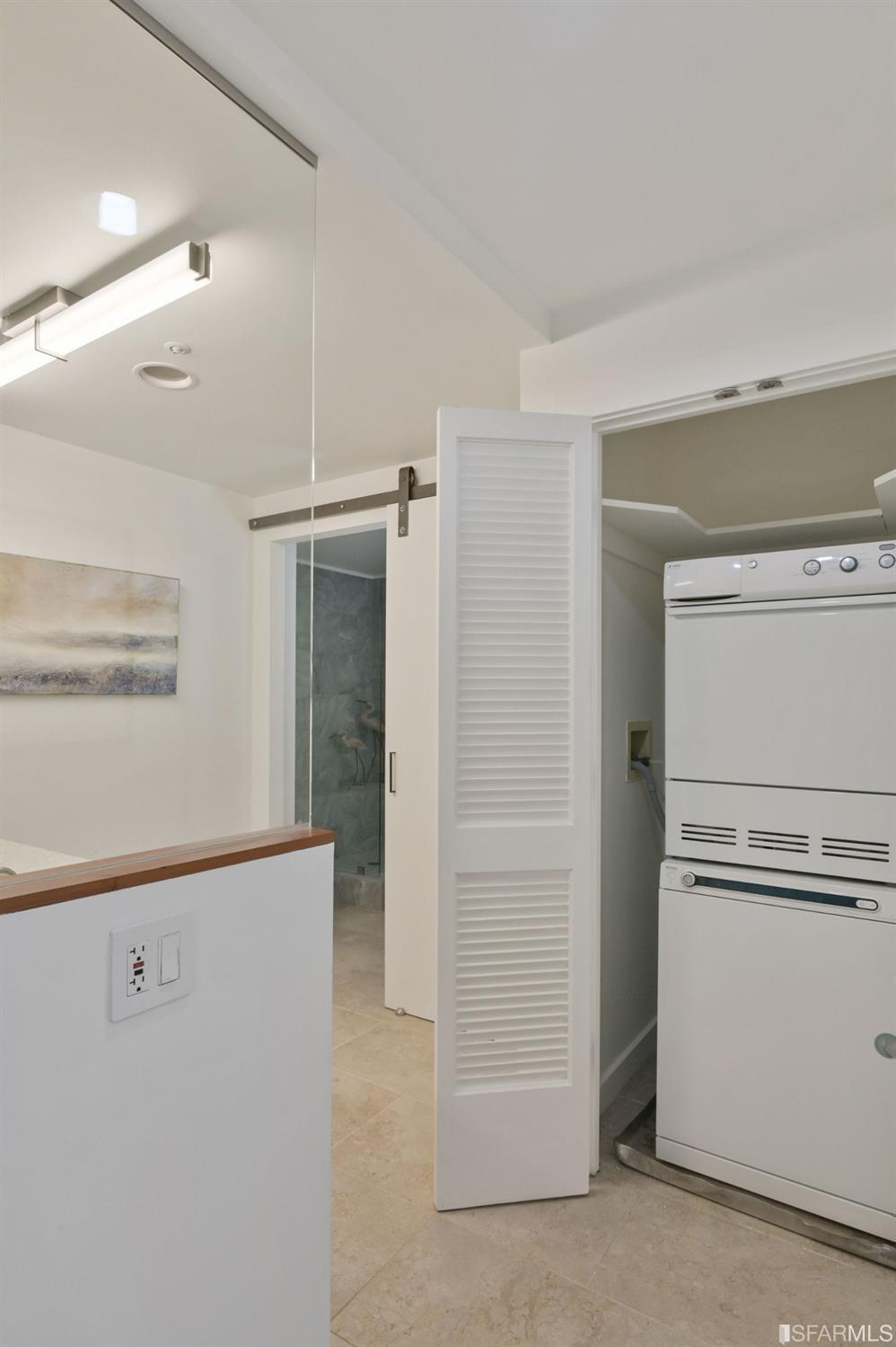 In-unit washer/dryer has its own alcove