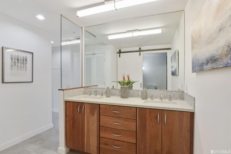 Nicely remodeled bathroom