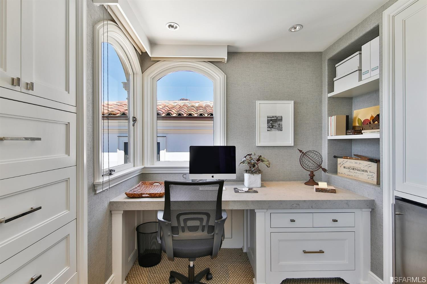 Home office situated off the master bedroom