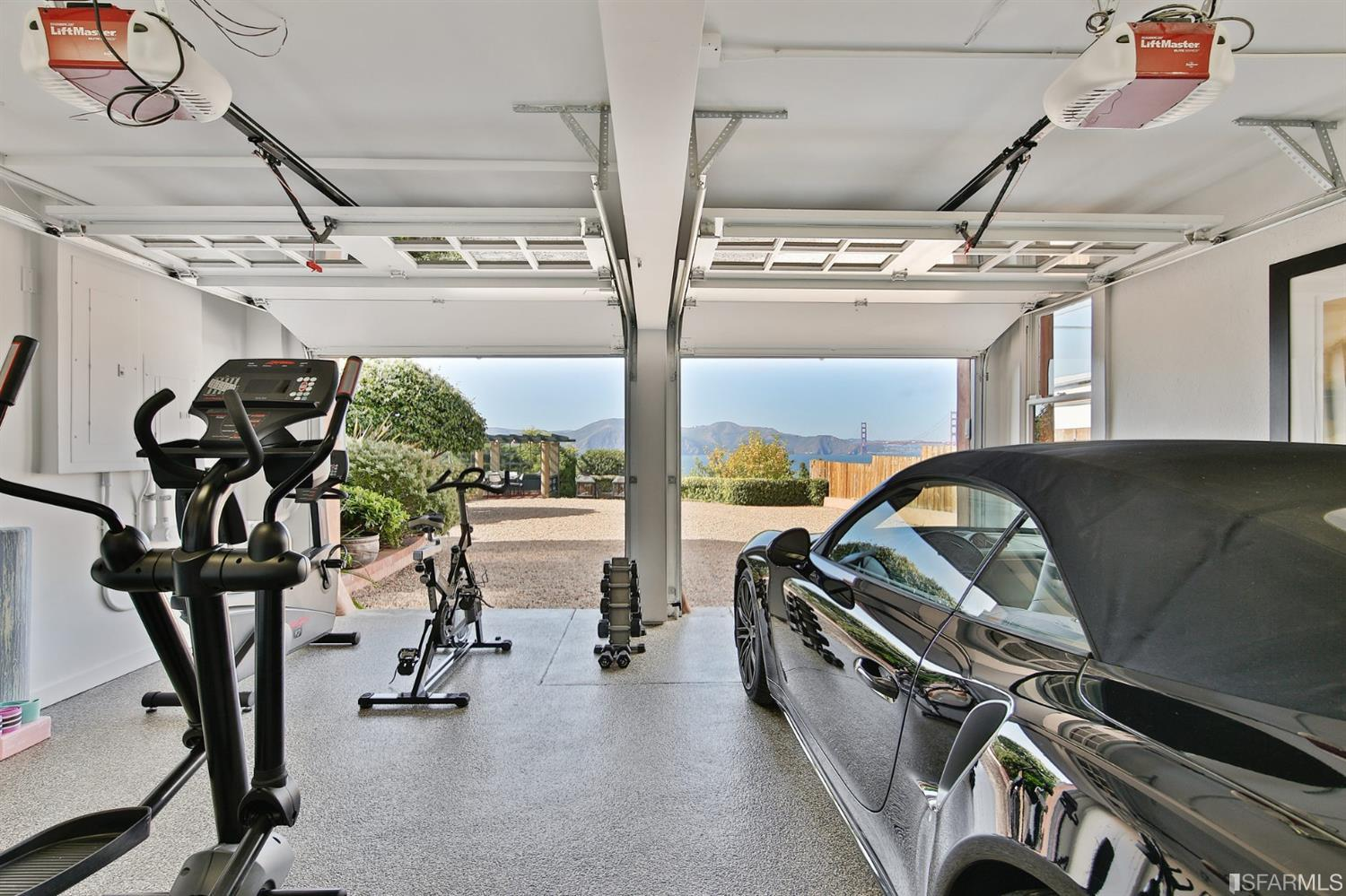 Perfect place to workout then head to the hot tub afterwards.  The driveway is large enough for multiple cars.