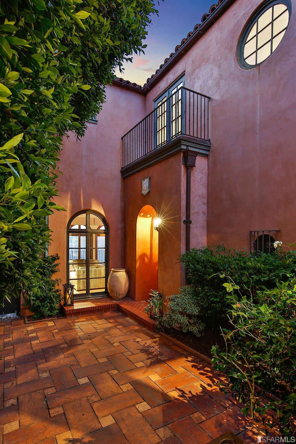This stunning entry courtyard gives guest that first glimpse of the views from this remarkable home.